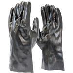 Armor Guys Duty 06-018 Black Large Interlock Work Gloves - PVC Full Coverage Coating - 14 in Length - 06-018-12