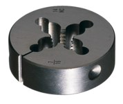 Greenfield Threading 6382 3/8-24 UNF Round Adjustable Die - Right Hand Cut - 0.375 in Thickness - High-Speed Steel - 400351