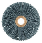 Weiler Silicon Carbide Wheel Brush 0.04 in Bristle Diameter 120 Grit - Arbor Attachment - 3 in Outside Diameter - 1/2 in Center Hole Size - 16263