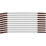 Brady Clip Sleeve SCN15-0 Black on White Nylon Clip-On Sleeve - 33900