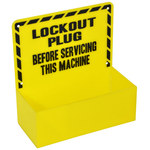 Brady Prinzing Yellow Lockout Device Station - 8 1/2 in Width - 8 12 in Height - 754476-45528