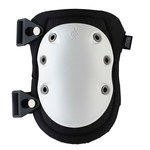 Ergodyne Proflex 315 White Nylon Knee Pad - Buckle Strap - Rubber Foam Padding - 720476-18315