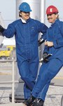 Ansell Sawyer-Tower 66-672 Blue Large CPC Nomex Trilaminate Heat-Resistant Overalls - 076490-05448