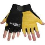 Global Glove Gripster SG2000 Black/Yellow Large Grain Pigskin Kevlar/Leather/Spandex Mechanic's Gloves - SG2000/LG