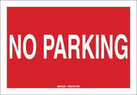 Brady B-555 Aluminum Rectangle Red Parking Restriction, Permission & Information Sign - 10 in Width x 7 in Height - 43430