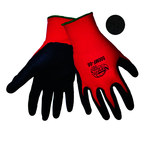 Global Glove Tsunami Grip 500MF Black/Red 9 Nylon Work Gloves - Nitrile Full Coverage Coating - 500MF/9