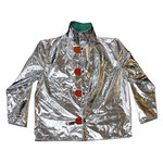 Chicago Protective Apparel Large Aluminized Carbonx Heat-Resistant Jacket - 30 in Length - 600-ACX10 LG