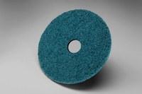 3M Scotch-Brite SC-DH Non-Woven Aluminum Oxide Blue Hook & Loop Disc - Very Fine - 5 in Diameter - 7/8 in Center Hole - 18618