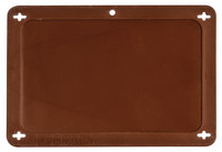 Brady 87711 Brown Rectangle Plastic Blank Valve Tag - 4 in Width - 2 1/2 in Height - B-418