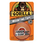 Gorilla Clear Mounting Tape - 1 in Width x 60 in Length - 60650