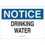 Brady B-555 Aluminum Rectangle White Water Sanitation Sign - 10 in Width x 7 in Height - 41348