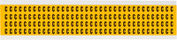 Brady 15 Series 1500-C Black on Yellow Vinyl Letter Label - Indoor / Outdoor - 1/4 in Width - 3/8 in Height - 1/4 in Character Height - B-946