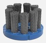 Weiler Silicon Carbide Bristle Disc - Medium Grade - Arbor Attachment - 7/8 in Center Hole - 3 1/2 in Outside Diameter - 0.04 in Bristle Diameter - 85798