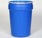 Eagle Blue High Density Polyethylene 55 gal Spill Containment Drum - 39 1/8 in Height - 23 3/4 in (Top), 19 3/8 in (bottom) Overall Diameter - 048441-00451