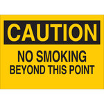 Brady B-120 Fiberglass Reinforced Polyester Rectangle Yellow No Smoking Sign - 20 in Width x 14 in Height - 72072