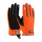 PIP Maximum Safety Viz 120-4600 Black/Orange Large Lycra/Nylon/Spandex/Synthetic Leather Work Gloves - 8.9 in Length - 120-4600/L