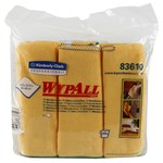 Kimberly-Clark Wypall Yellow Microfiber Wiper - 6 wipes per pack - 15.75 in Overall Length - 15.75 in Width - 83610