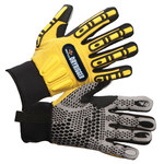 Impacto Dryrigger WGRIGG Black/Yellow 3XL Kevlar/TPR Work Gloves - Nitrile/PVC Dotted Palm & Fingers Coating - WGRIGGXXXL