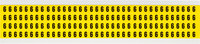 Brady 34 Series 3400-6 Black on Yellow Vinyl Cloth Number Label - Indoor - 1/4 in Width - 3/8 in Height - 1/4 in Character Height - B-498