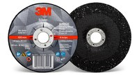 3M Silver Ceramic Depressed-Center Grinding Wheel - 4 in Diameter - 87456