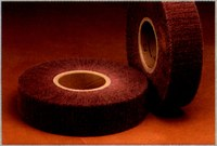 3M Scotch-Brite CF-FB Non-Woven Aluminum Oxide Flap Wheel - 3 in Face Width - 8 in Diameter - 3 in Center Hole - Density Grade: Hard - 27848
