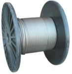 Lift-All Steel Aircraft Cable 316500719S - 3/16 in Dia x 500 ft - Silver
