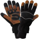 Global Glove Premium SG5200INT Black Large Split Cowhide Leather Cold Condition Gloves - Cold Keep Insulation - SG5200INT-9(L)