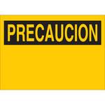 Brady B-401 Polystyrene Yellow Preprinted Header - 10 in Width x 7 in Height - Language Spanish - 25406