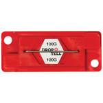 Red 100G Drop-N-Tell Indicators - 7/8 in x 2 in x 1/4 in - SHP-8350
