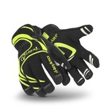 HexArmor Hex1 2121 Black/Yellow 9 Synthetic Leather Work Gloves - Silicone Palm Coating - 2121 SZ 9