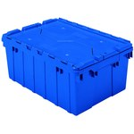 Akro-Mils Keepbox 8.5 gal 35 lb Blue Industrial Grade Polymer Attached Lid Container - 21 1/2 in Length - 15 in Width - 9 in Height - 39085 BLUE