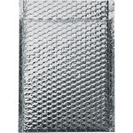 Shipping Supply Silver Insulated Bubble Mailers - 10 1/2 in x 10 in - 3/16 in Thick - SHP-11576