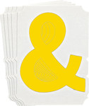 Brady Quik-Align 5110-& Yellow Vinyl Punctuation Label - Indoor / Outdoor - 3 in Height - 3 in Character Height - B-933