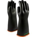 PIP Novax 155-3-16 Black/Orange 9 Rubber Work Gloves - 16 in Length - Smooth Finish - 155-3-16/9