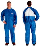 3M 4530CS Blue Large SMMS Polypropylene Disposable General Purpose & Work Coveralls - Fits 39 to 43 in Chest - 046719-64649