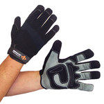 Impacto WG408 Black/Gray Large Spandex/Synthetic Leather Work Gloves - WG40840