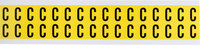 Brady 34 Series 3420-C Black on Yellow Vinyl Cloth Letter Label - Indoor - 9/16 in Width - 3/4 in Height - 5/8 in Character Height - B-498