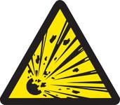 Brady 60182 Black on Yellow Triangle Vinyl Fire Hazard Label - 1/2 in Width - 1/2 in Height - B-946