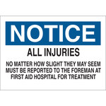 Brady B-401 Polystyrene Rectangle White Accident Notice Sign - 10 in Width x 7 in Height - 22632