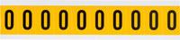 Brady 15 Series 1530-0 Black on Yellow Vinyl Number Label - Indoor / Outdoor - 7/8 in Width - 1 1/2 in Height - 1 in Character Height - B-946