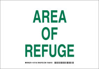 Brady B-555 Aluminum Rectangle White Emergency Area Sign - 10 in Width x 7 in Height - 127128