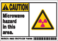 Brady 86833 Polyester Radiation Hazard Label - 5 in Width - 3 1/2 in Height - B-302
