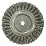 Weiler Steel Wheel Brush 0.023 in Bristle Diameter - Arbor Attachment - 6 in Outside Diameter - 08916