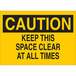 Brady B-401 Polystyrene Yellow Keep Clear Sign - 10 in Width x 7 in Height - 25759