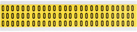 Brady 34 Series 3410-0 Black on Yellow Vinyl Cloth Number Label - Indoor - 11/32 in Width - 1/2 in Height - 3/8 in Character Height - B-498