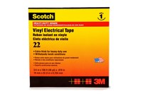 3M Scotch 22 Black Insulating Tape - 1 in Width x 36 yd Length - 10 mil Thick - Electrically Insulating - 10042