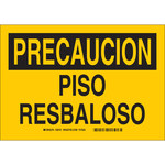 Brady B-401 Polystyrene Rectangle Yellow Fall Prevention Sign - 10 in Width x 7 in Height - Language Spanish - 38721