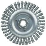 Weiler Carbon Steel Wheel Brush 0.02 in Bristle Diameter - Arbor Attachment - 5 in Outside Diameter - 36295