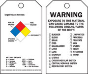 Brady 76227 Black / Blue / Red / Yellow on White Polyester Chemical Hazard Tag - 3 in Width - 5 3/4 in Height - B-851