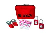 Brady Red Padlock Kit - 4/5 in Depth - 1 1/2 in Width - 1 3/4 in Height - 754476-99290